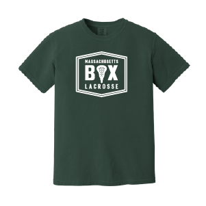 Mass Box Lax – Comfort Colors Tee - Blue Spruce
