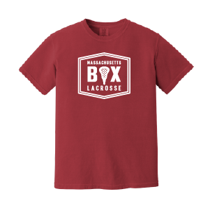 Mass Box Lax – Comfort Colors Tee - Crimson