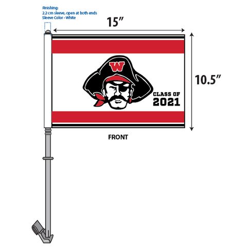 WHS Graduation Car Flags – Raider