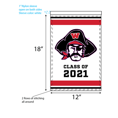 WHS Graduation Garden Flags – Raider