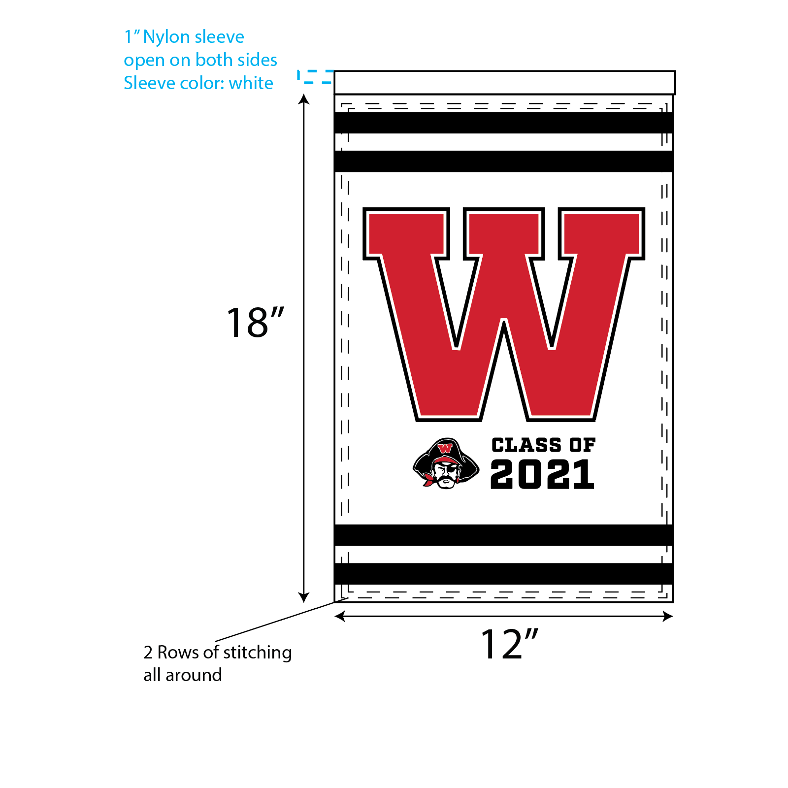 WHS Graduation Garden Flags – W