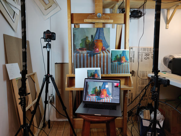 Doing colour correction for reproductions of oil paintings
