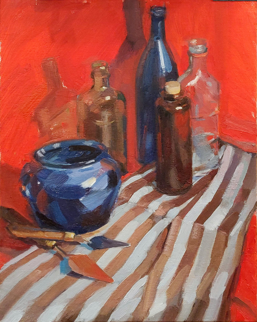 Still life with palette knives