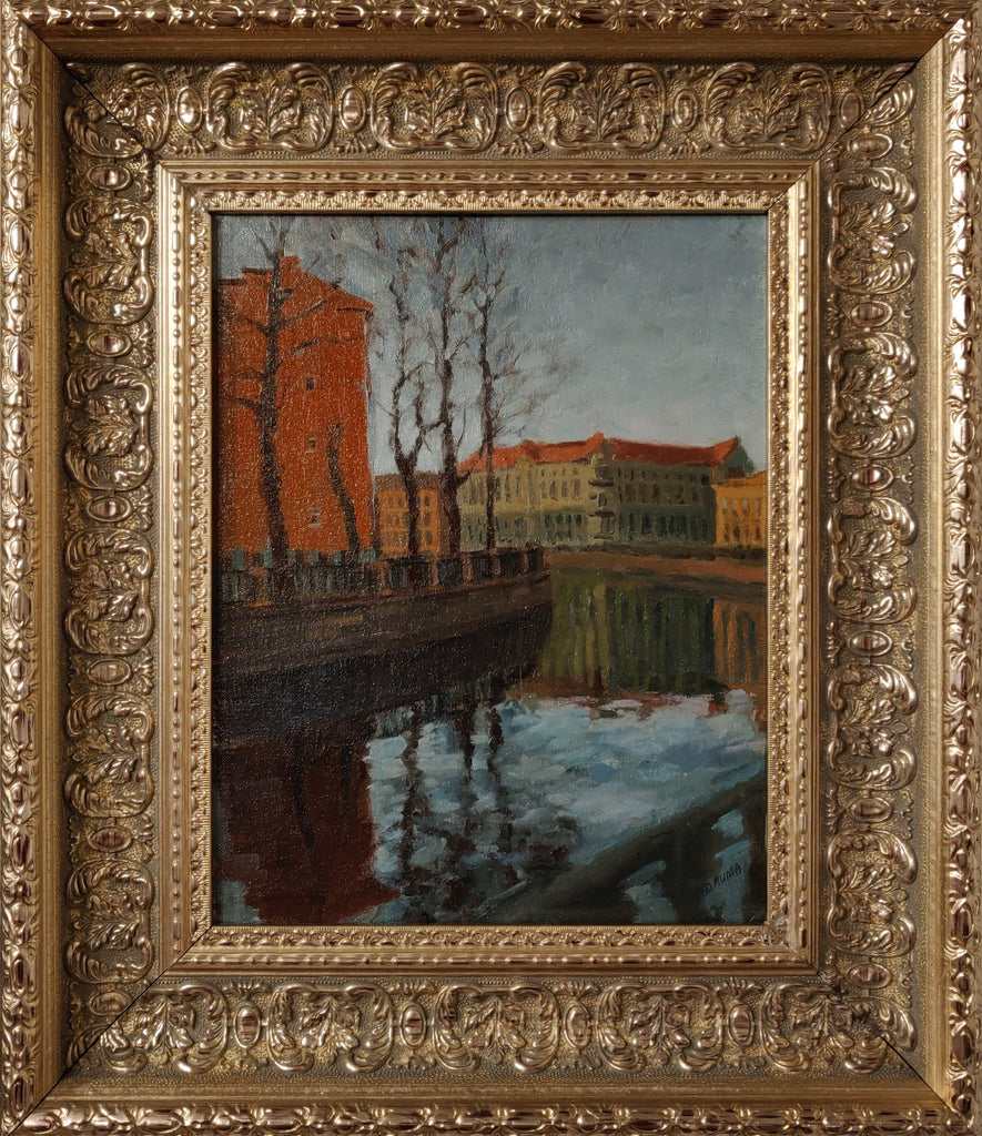Canal, St Petersburg (framed)