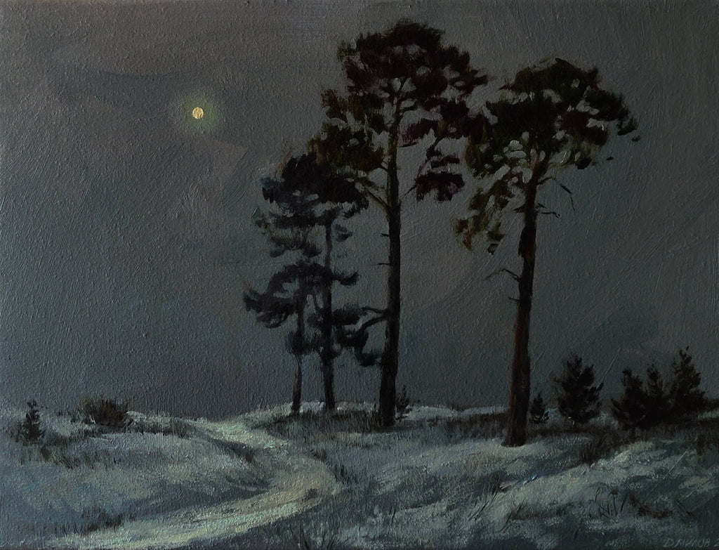 Night Landscape With Pines