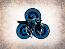Celtic Raven Enamel Pin