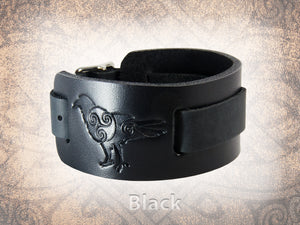 Celtic Raven Watch Cuff