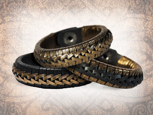 Rene Braided Cuff - Bronze