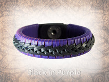 Rene Braided Cuff - Purple