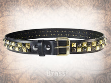 Pyramid Stud Belt - 2 Row Checkered