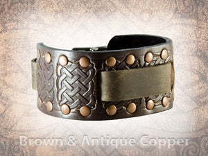 Riveted Celtic Knot Watch Cuff