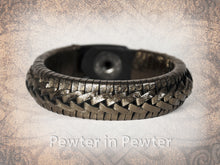 Rene Braided Cuff - Pewter