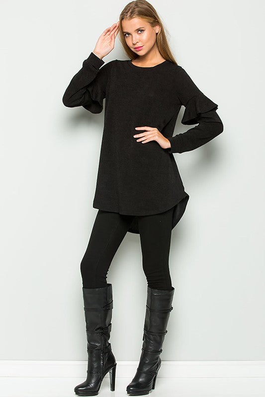 HOLIDAY RUFFLE TUNIC