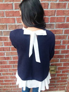 AUTUMN FLUTTER SWEATER- NAVY