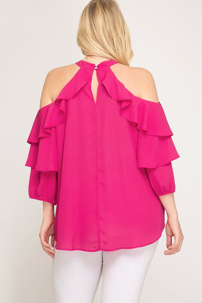 AUSTEN COLD SHOULDER TOP