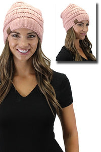 SNOW BUNNY WINTER HAT- ROSE