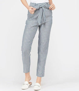 BERMUDA STRIPED TROUSER