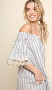 HAYLEY OFF-SHOULDER POCKET DRESS