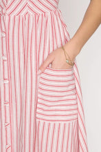 EMERSON STRIPED MIDI DRESS