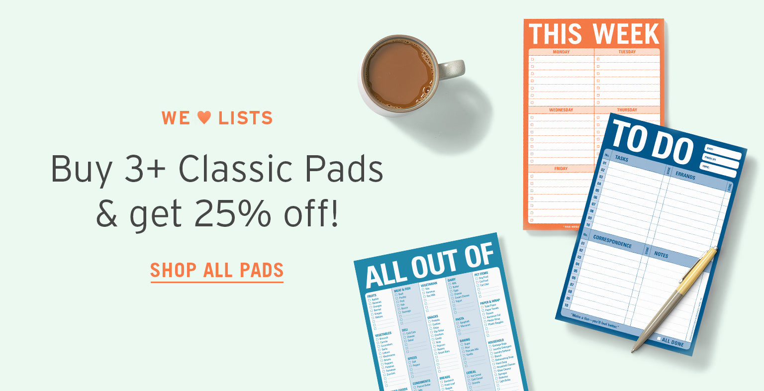 Buy 3+ Classic pads & Get 25% off!