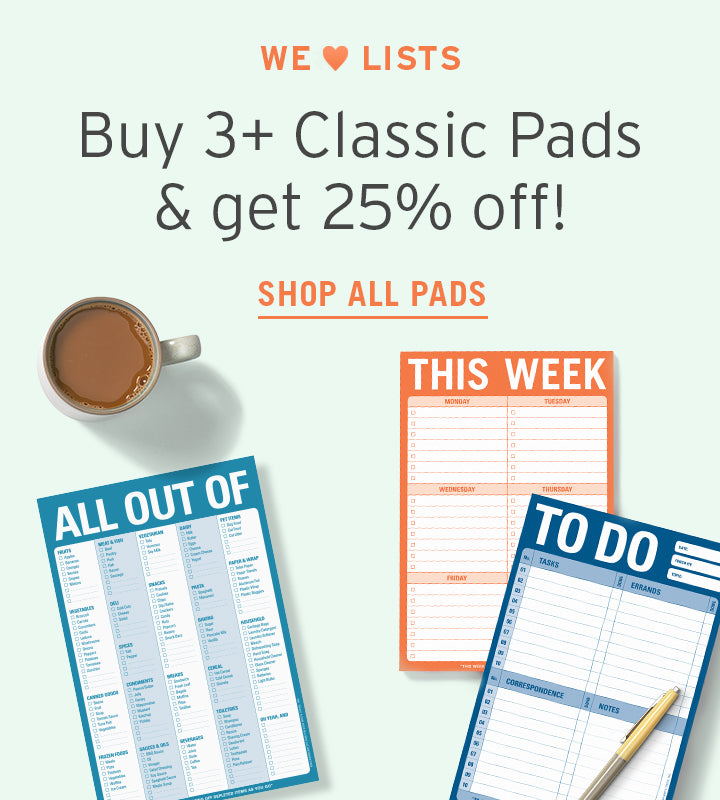 2a26d8ba35269 Buy 3 or More Classic Pads and Get 25-Percent Off! Shop all pads