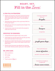 graphic relating to Funny Fill in the Blank Stories Printable identified as Suggestions for Your Fill inside the Love® Guides Knock Knock