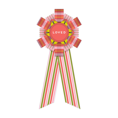 Knock Knock Loved Personal Award Paper Ribbon