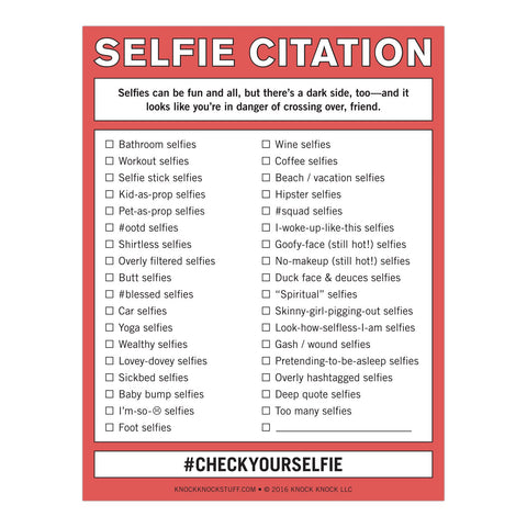 Knock Knock Selfie Citation