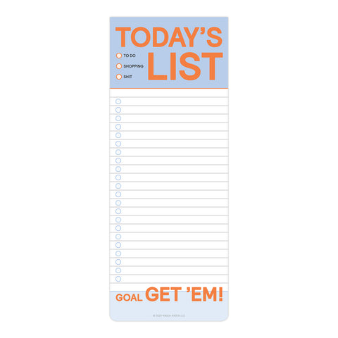 Today's List Make-a-List Pad