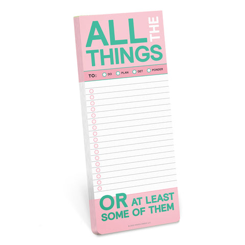 All The Things Make-a-List Pad