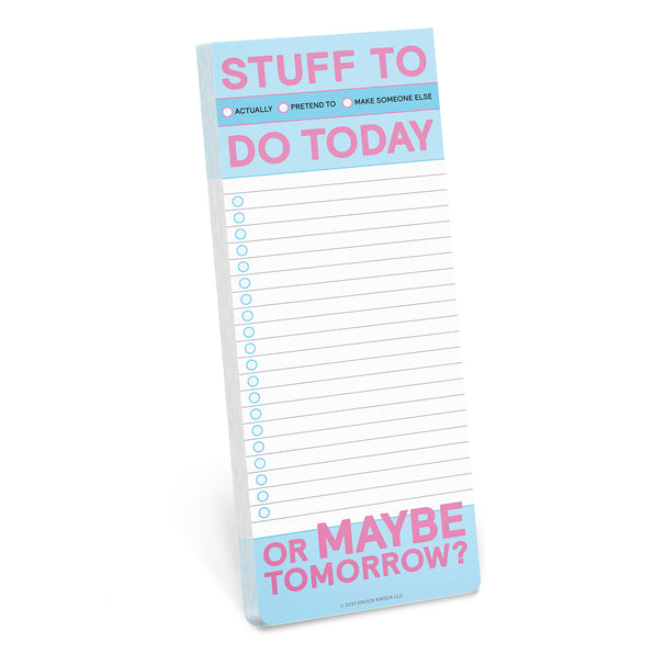 Stuff to Do Today Make-a-List Pad