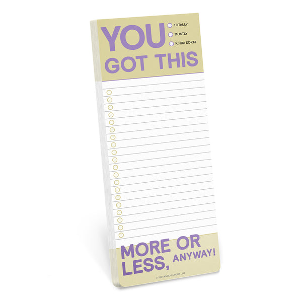 You Got This Make-a-List Pad