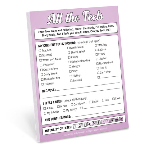 Knock Knock All the Feels Nifty Note checklist pad