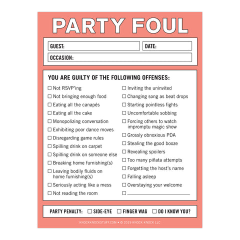 Party Foul Nifty Note