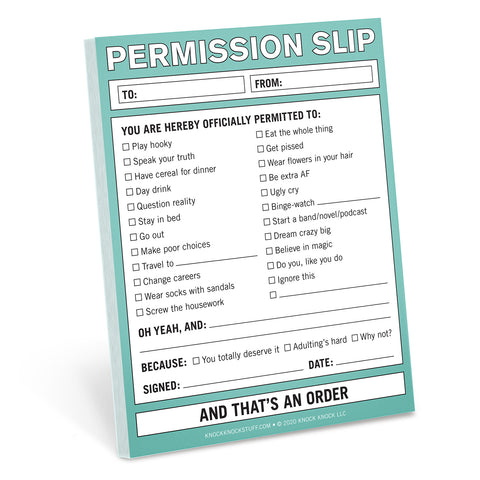 Knock Knock Permission Slip Nifty Note