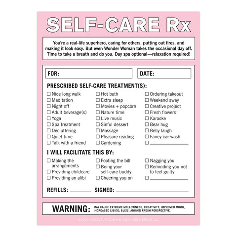 Self-Care RX Nifty Note