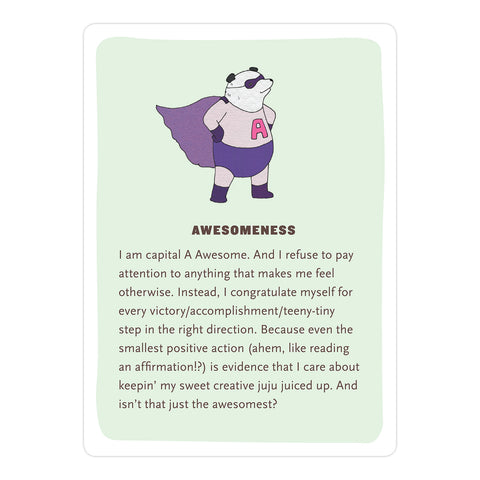 Affirmators! Creativity: 50 Affirmation Cards Deck