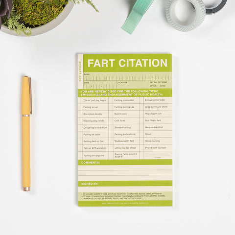 Fart Sticky Citation Pad