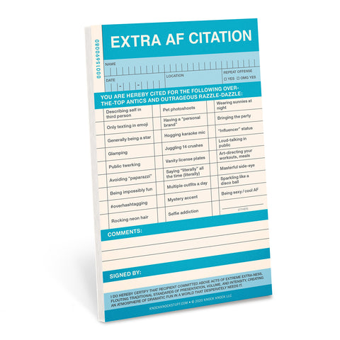 Knock Knock Extra AF Sticky Citation Pad