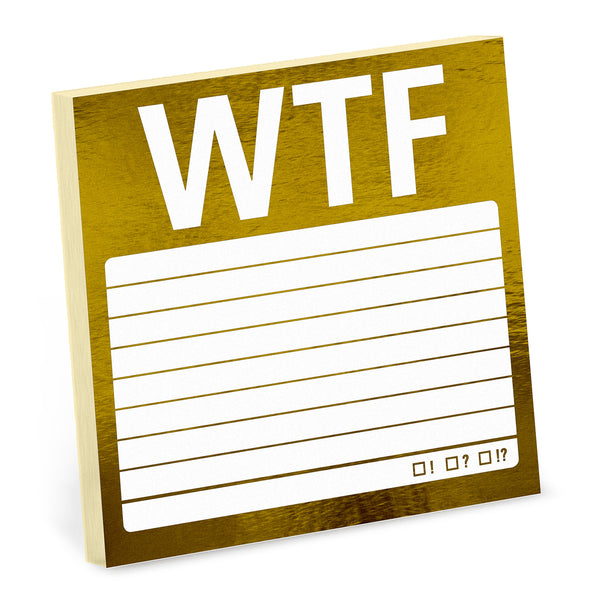 WTF Metallic Sticky Notes
