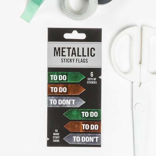 To Do / To Don't No Metallic Sticky Flags