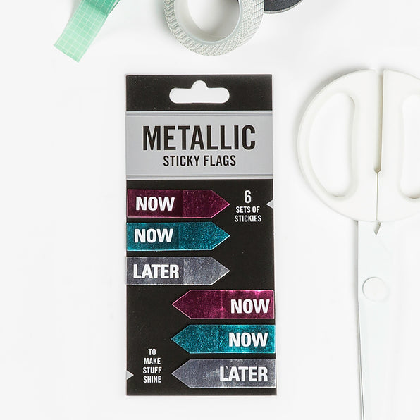 Now / Later Metallic Sticky Flags