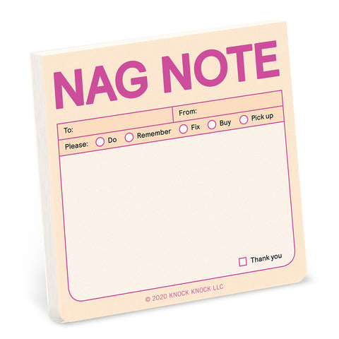 Knock Knock Nag Note Sticky Notes (Pastel Edition)