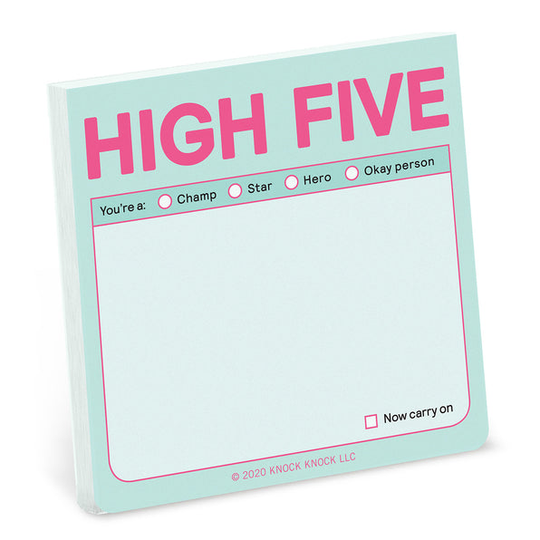 Knock Knock High Five Sticky Notes (Pastel Edition)