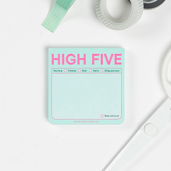 High Five Sticky Notes (Pastel Edition)
