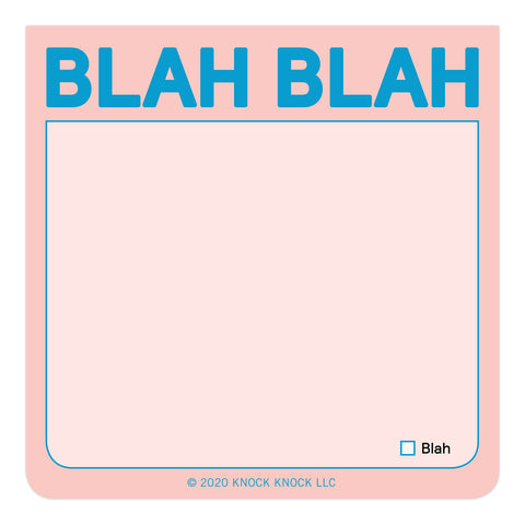Blah Blah Sticky Notes (Pastel Edition)