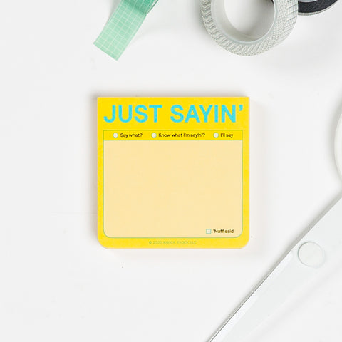 Just Sayin' Sticky Notes (Pastel Edition)