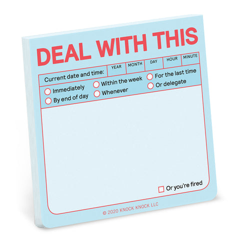 Deal with This Sticky Notes (Pastel Edition)
