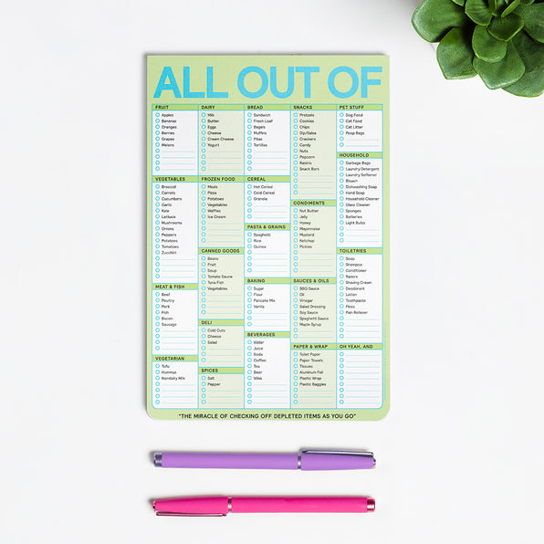 All Out Of® Pad with Magnet (Pastel Edition)