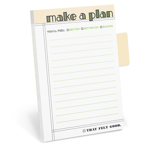 Make A Plan Sticky Tabs Notepad Sticky Notes / Sticky Tabs Note Pad